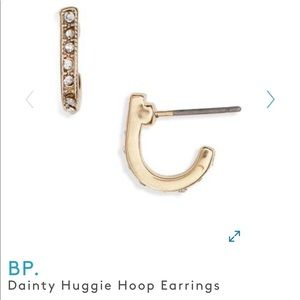 BP huggie hoop earrings